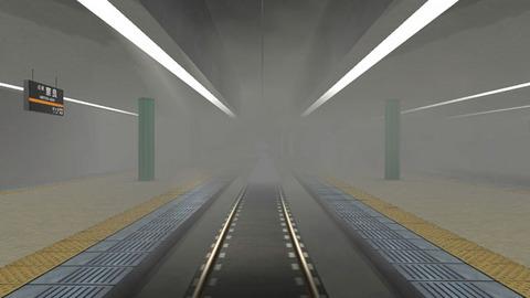 地下駅なので煙が充満(笑)