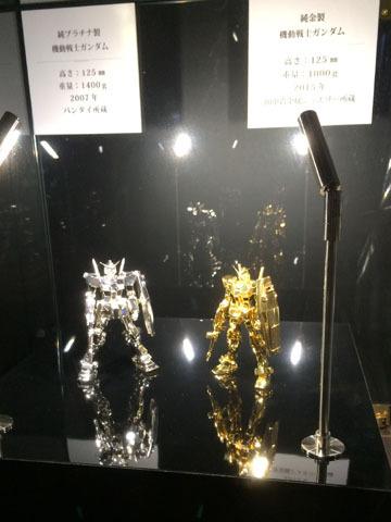 純金・純プラチナ製ガンダム
