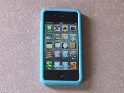入手したiPhone(カバー装着済み)