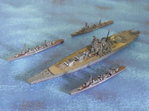大和と駆逐艦3隻