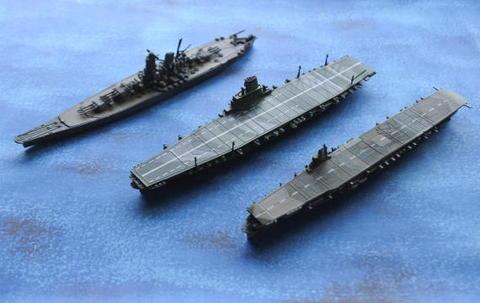 戦艦大和と空母瑞鶴とを並べてみた