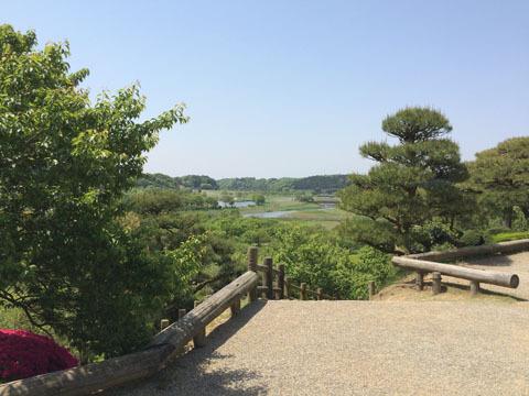 広場の一角「仙奕台」から見た風景