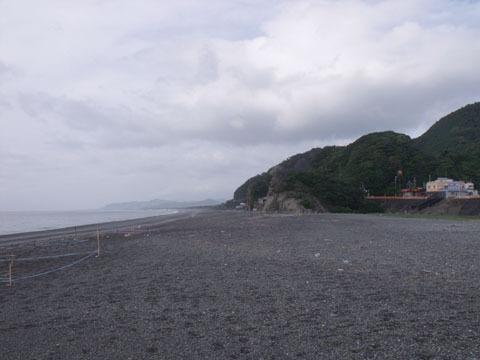 熊野市の浜辺