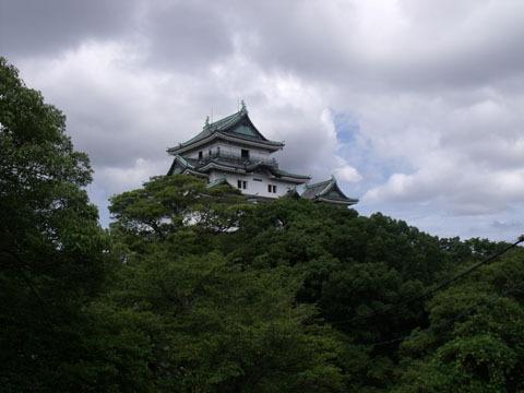 丘の上に立つ和歌山城