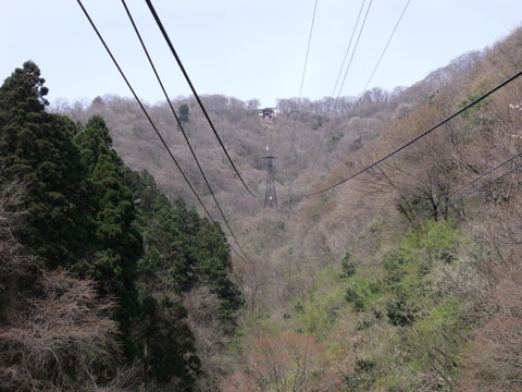 山麓駅ホームから山頂駅方面を望む