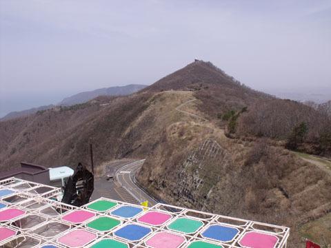 展望食堂の屋上から見た十宝山