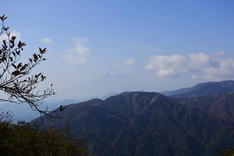 山頂からも富士山が見えた