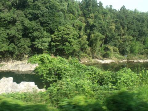 渓谷の風景に変わる