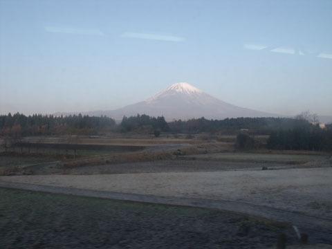 この辺りでは富士山がくっきりと見える