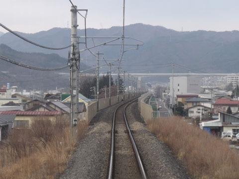 まもなく岡谷駅
