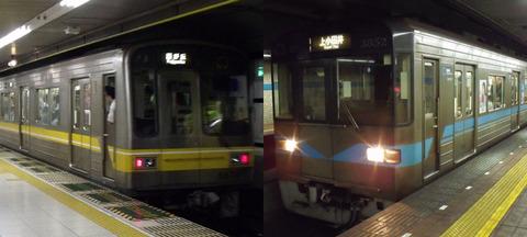 東山線(黄)・鶴舞線(水色)