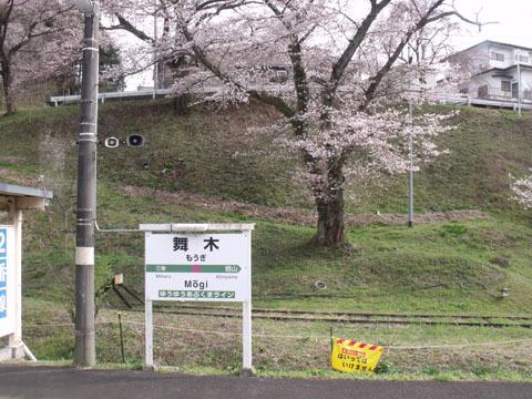 舞木駅の桜