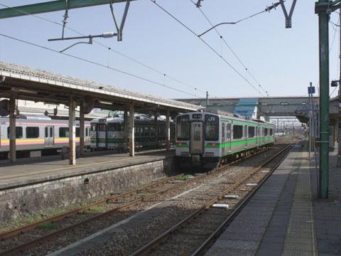 吉田駅に到着