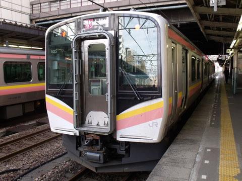 長岡で上越線に乗り換え