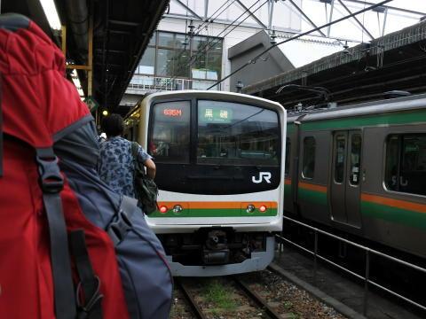 宇都宮ですぐに次の電車に乗り換え