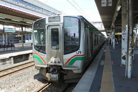 福島行きは最新鋭のE721系