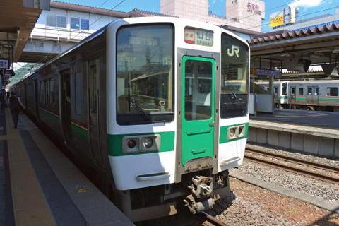 仙台行きの快速列車