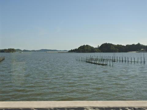 堤防越しに見た松島湾