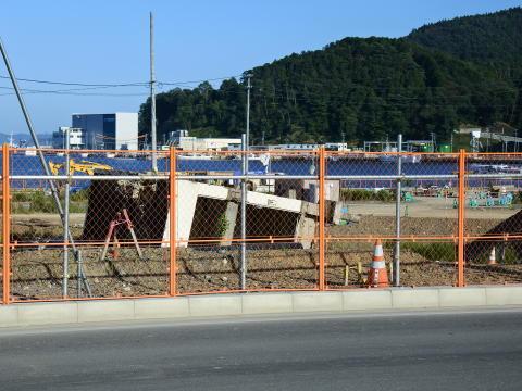 津波によって倒壊した女川交番