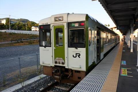折り返しの石巻方面の列車に乗車