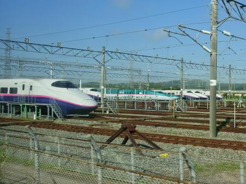 利府支線は新幹線車両基地に隣接