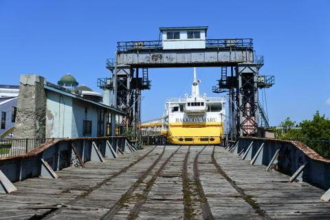 貨車搬入用の桟橋