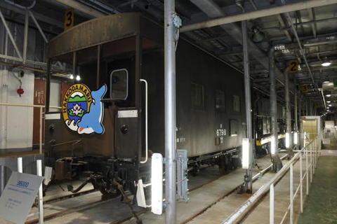 1階の車両甲板では貨物車を中心とした車両が展示