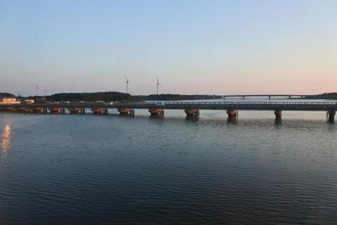 八郎潟の河口付近