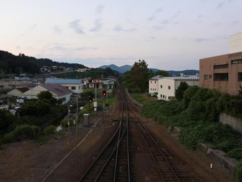 跨線橋より、秋田方面