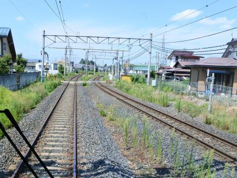 仙山線と合流