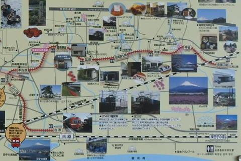 岳南電車の沿線マップ