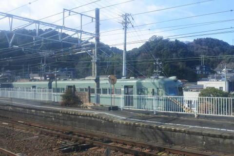 金谷駅に停車中の大井川鉄道の車両