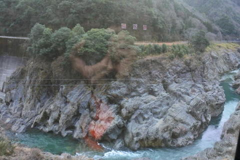 著名な景勝地の飛水峡