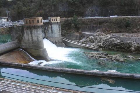 ダムも多く見られます