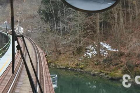 川を交互に渡る