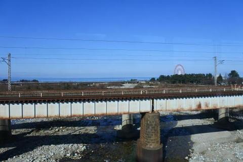 日本海が近づいてきた