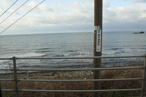確かに日本海が目の前