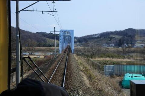 阿武隈川を渡る鉄橋