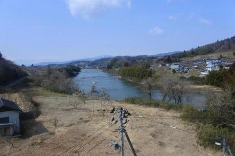 阿武隈川沿いを走行