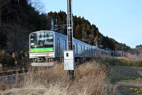 目の前を仙石線上り列車が再度通過
