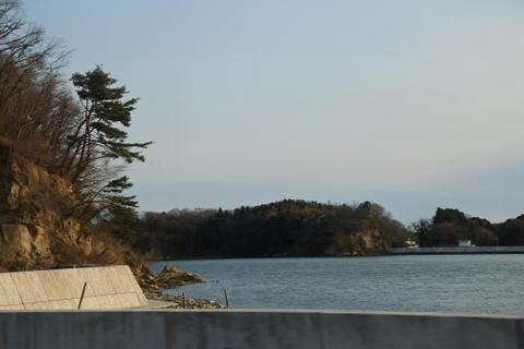 奥松島と呼ばれる地点を走行
