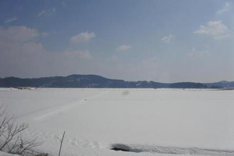 見渡す限りの雪一色