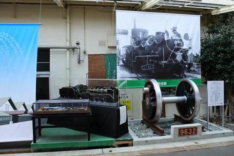 9600形の動輪と模型