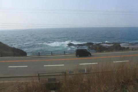 引き続き日本海沿いを走行