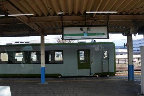 米坂線の接続駅である坂町駅