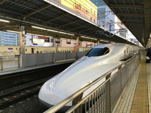 最初は新幹線