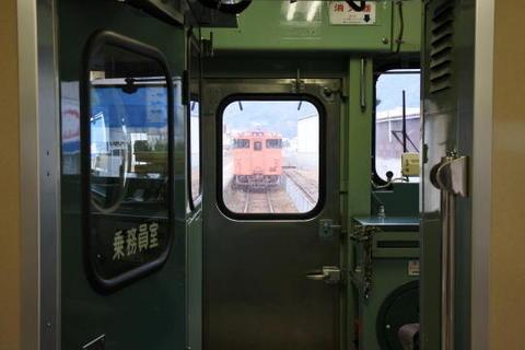 切り離した後ろ2両がそのまま広島行きとして発車
