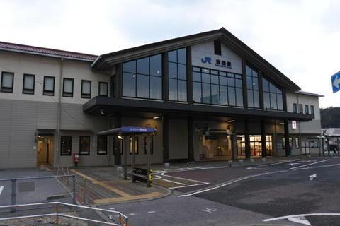 朝の浜田駅