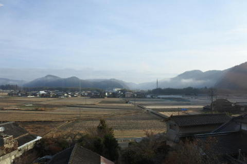 岡山の内陸地に入る