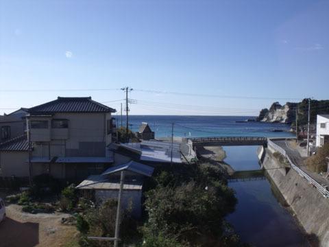 ようやく海が見えました